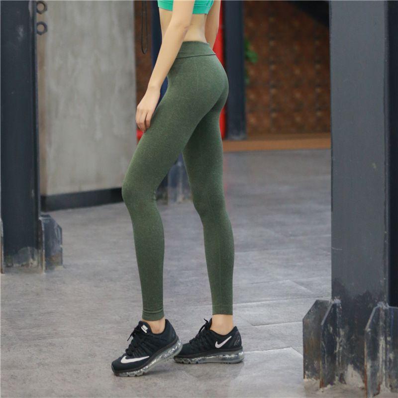 Girl Tight Yoga Trousers Running Fitness Pants Sports High Elastic Trunks Pants Leggings Athletic For Women
