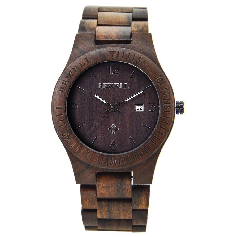 1ceae0d5e04 Compre Bewell Mais Barato Relógios Slim Para Homens Design Retro Melhor  Venda Relógio De Madeira Round Dial Retro Relógio De Pulso Mens Watch De  Watch 01
