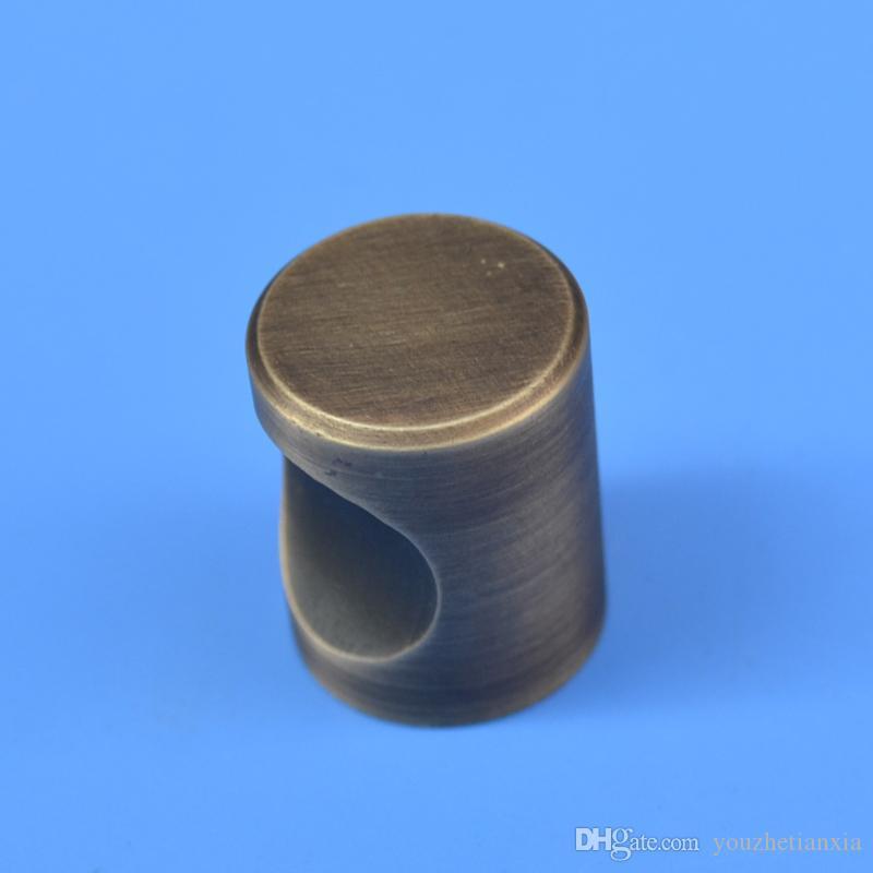 2 фото Антикварный твердый простой ручка ящик мебельная фурнитура шкаф шкаф обуви дверь на одно отверстие ручки круглый конус выдвижные