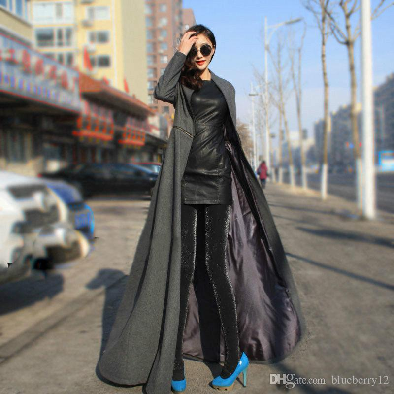 2018 Hot Selling Winter Wool Coat Women Cool Style Full Length ...