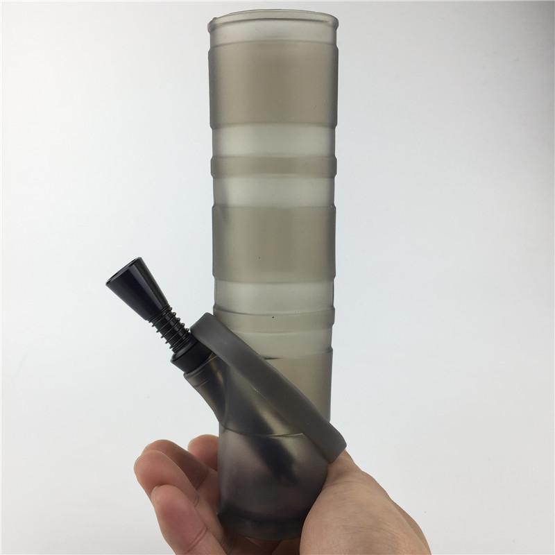 Gefaltetes tragbares Silikon-Wasser-Bong-Huka mit klarem schwarzem blauem roten Plastikbongs Doppelfilter-Öl-Rig für Rauchen