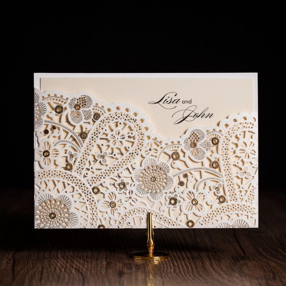 Wholesale Cw5181 White Royal Wedding Invitation Card/ Greeting Card ...