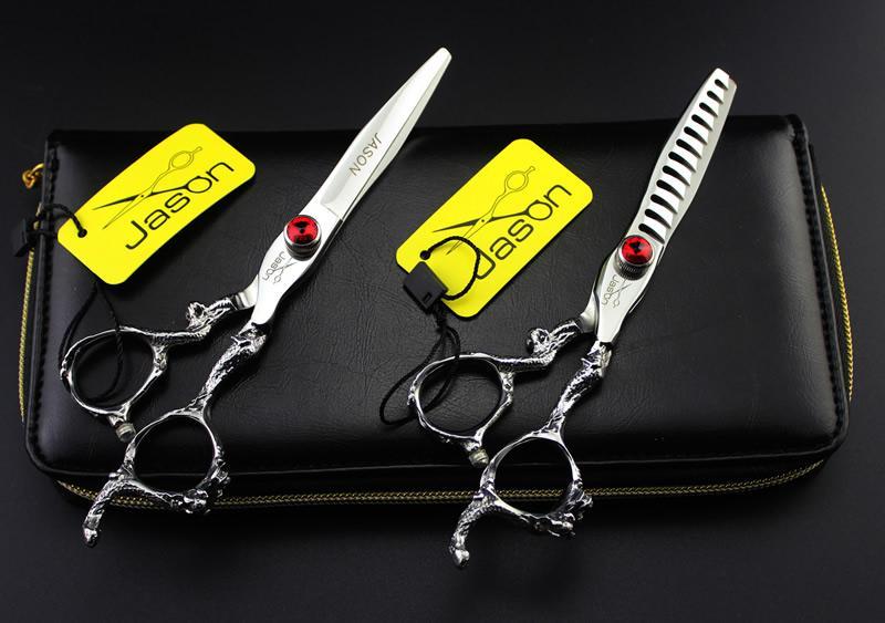 6.0Inch Jason JP440C Professionale Forbici da parrucchiere Set taglio forbici assottigliamento Cesoie capelli Kit Barber Salon Tools Tesouras, LZS0459