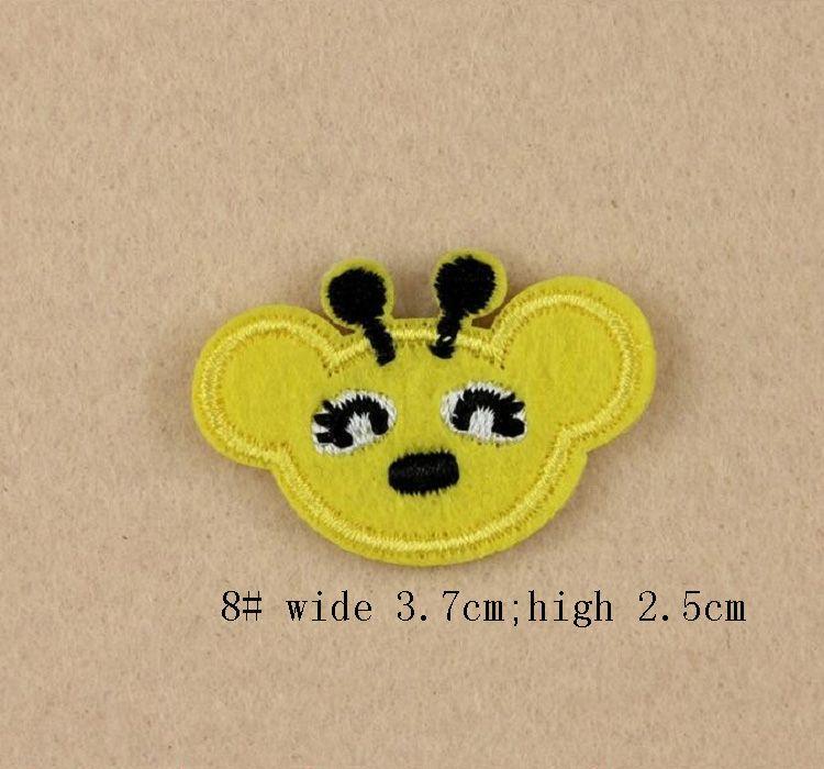 Eisen auf Patches DIY gestickt Patch Aufkleber für Kleidung Kleidung Stoff Abzeichen Nähen Fisch Panda Tier Cartoon Design