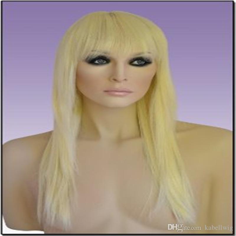 Alta calidad rubio 613 # pelucas de encaje completo zapatos peluca de encaje completo seda superior 5.5 * 5.5 pelo tejido recto en cabello virgen brasileño 100% KABELL
