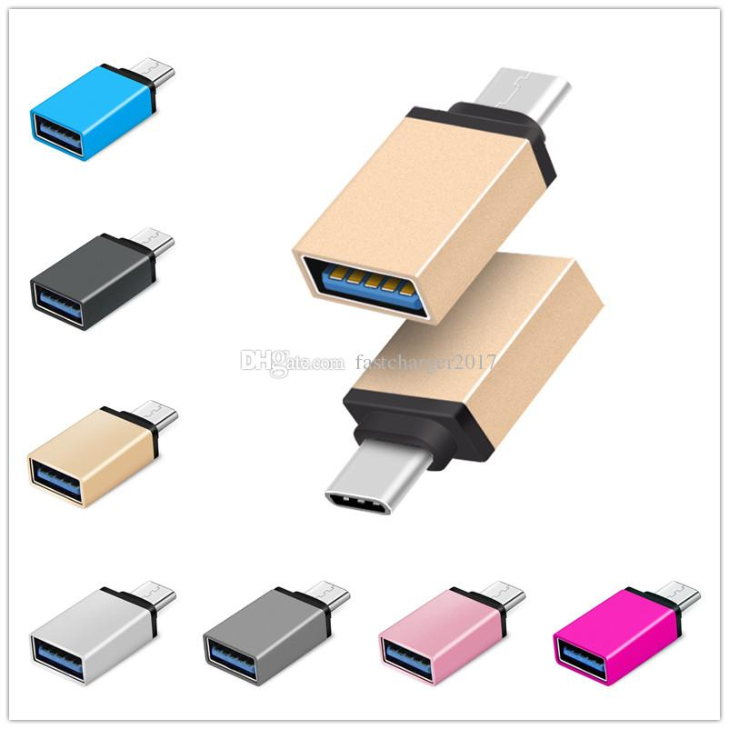 Metal Adapter Converter USB 3 1 Type C OTG Adapter Male to USB 3 0 A Female  Converter otg adaptor for samsung android phone