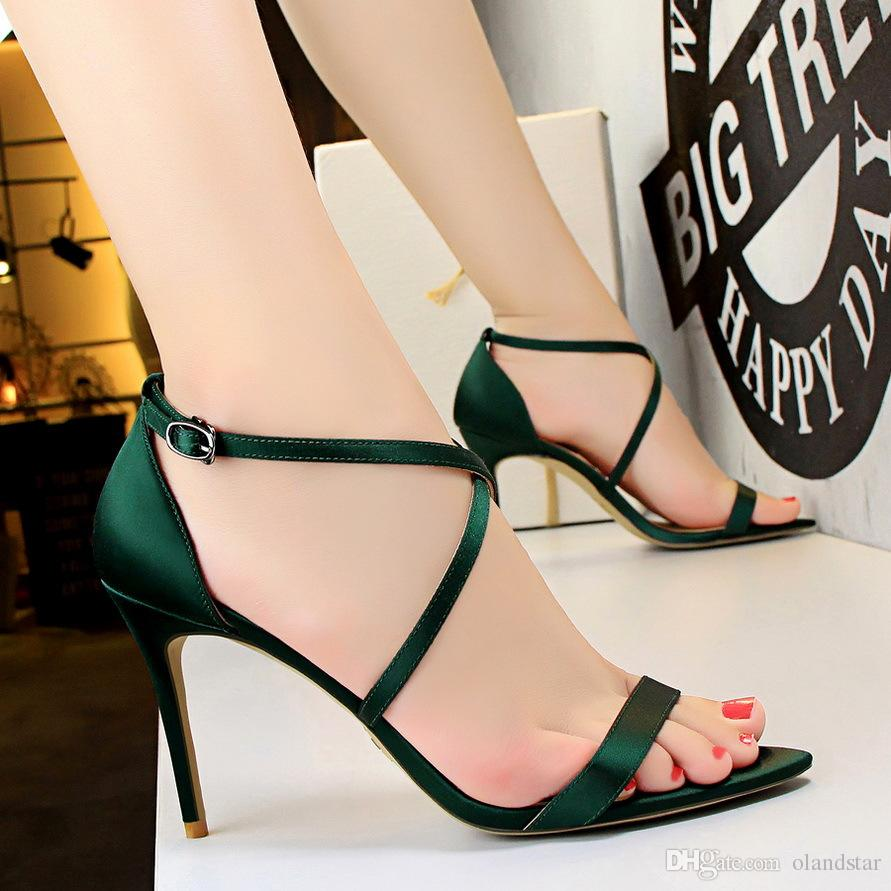 f3b101e4333 2017 Sexy Sandals Women Pumps Heels PU Leather Open Toe Thin High Heels  Festival Party Wedding Shoes Formal Pumps Sandals GWS220 Chaco Sandals Jack  Rogers ...