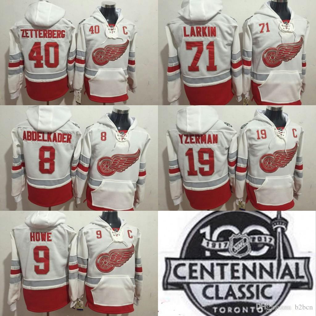 2019 2017 Centennial Classic Detroit Red Wings Dylan Larkin Gordie Howe  Steve Yzerman Justin Abdelkader Henrik Zetterberg Hoodie Sweatshirt From  B2bcn f5eaa2b00