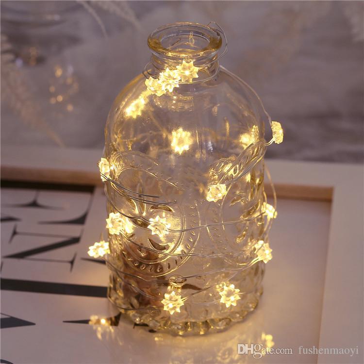 2017 Nouveau 3 mètre 30 LED Lumières Intérieur De Noël Décoration de La Maison Ficelles Fête Fête Lumières Chambre Décoration lumière 10 pièces DHL
