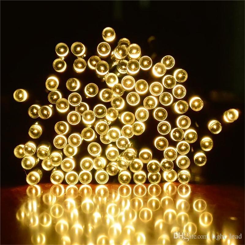 10M 100 led Solar String Lights Outdoor Waterproof String Lights for Gardens Patio Landscape Homes Wedding Part