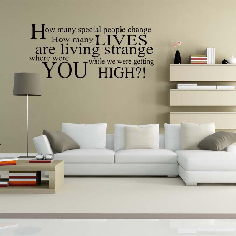 Oasis Champagne Supernova Lyrics Wall Stickers Removable Decals ...