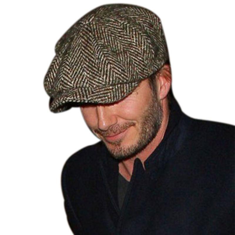 1de3916d85fad Wholesale-CNRUBR Octagonal Cap Newsboy Beret Hat Autumn And Winter Hats For  Men s International Superstar Jason Statham Male Models