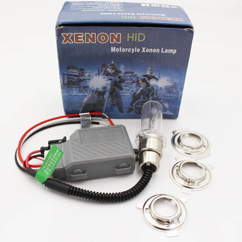دراجة نارية اختبأ المصابيح الأمامية الإسقاط H4 أضواء لمبات لمبة لو مرحبا H4 H6 H6M لمبات 6000K 8000K 4300K BiXenon سليم الصابورة 12V 35W