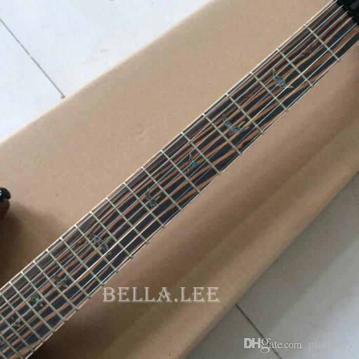 Purple quilted maple cap guitar,7 string Zebra wood fingerboard electric guitar,Made in China