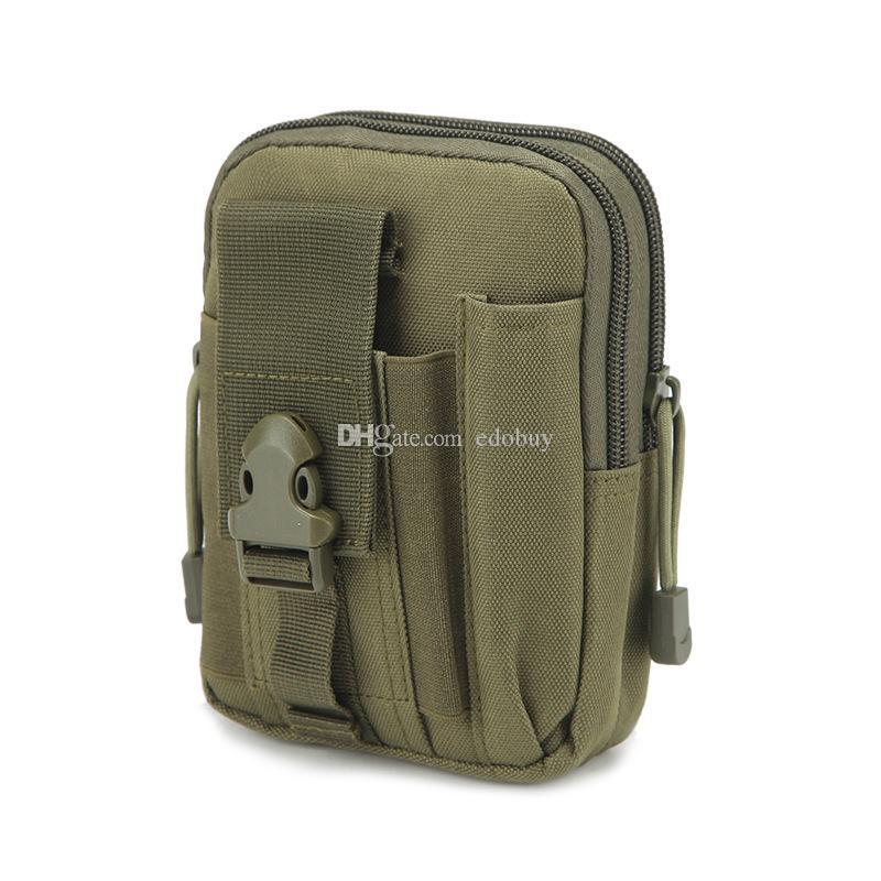 Universal Outdoor Tactical Holster militar MOLLE Hip cinto Bolsa Carteira Bolsa de telefone bolsa com zíper para iPhone / LG / HTC
