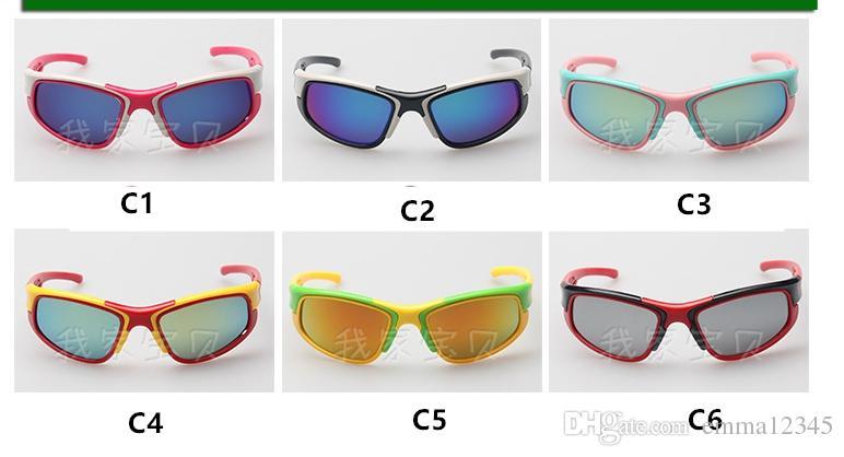 Hot Sale Brand Fashion Sport Sunglasses Kids UV400 Baby Boys Girls PC Frame Sunglasses Beach Goggles Glasses uv400