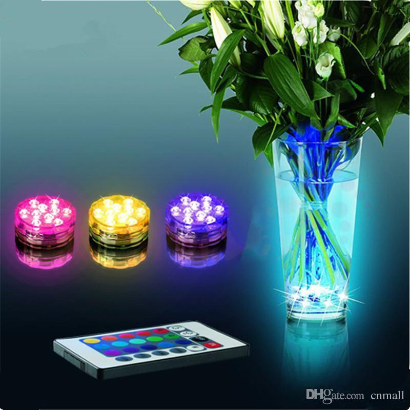 RGB LED Submersible Light Multi Colors Remote Control Submersible ...