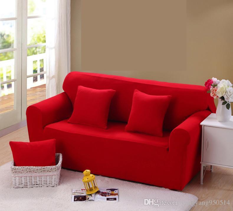 Großhandel 195 230 Cm Moderne Reine Farbe Mode Sofabezüge Für ...