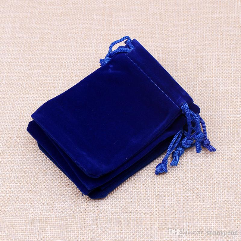 Velvet jewelry bags 5*7cm small jewelry pouches for rings earrings packaging jewelry display storage bags customized logo gift bag