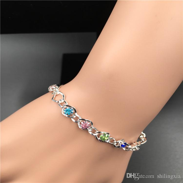 Hot wholesale High quality Mixed Many styles Metal Button Charm Rhinestone Styles Button Jewelry Charm Bracelets