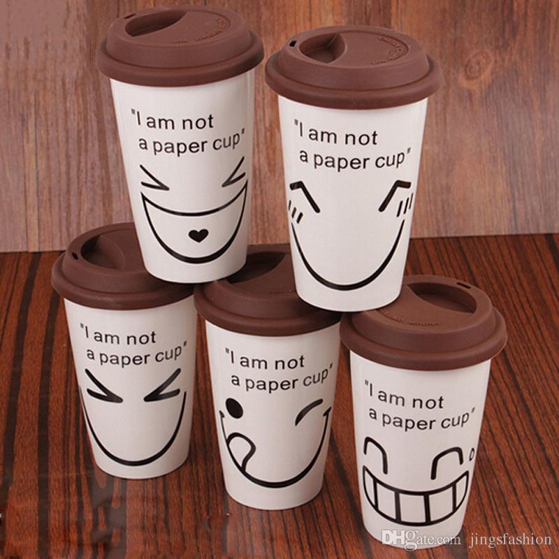 Funny Face Cup Breakfast Drinking Water Milk Coffee Cups