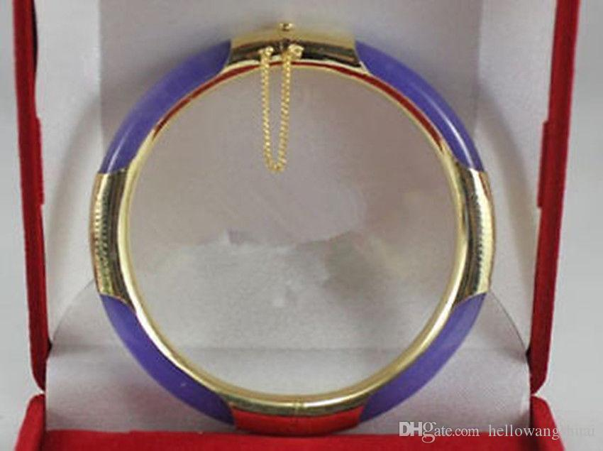 Beautiful Purple Jade Bangle Bracelet