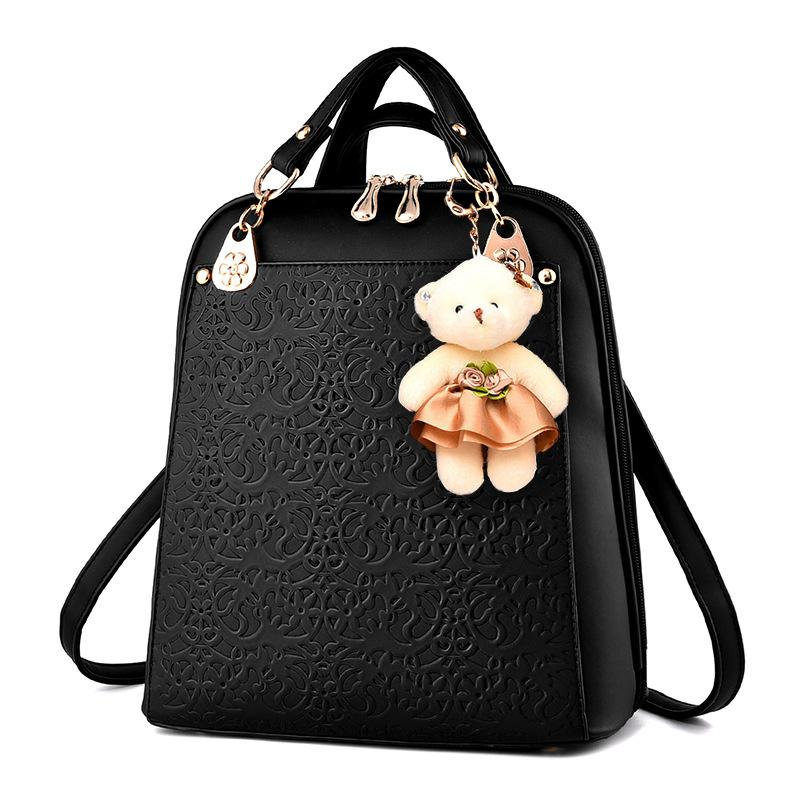 High Quality Backpack Women 2017 Oxford Embossed Fashion Black ...