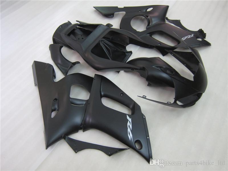 kits de carenado caliente nuevo para Yamaha R6 1998 1999 2000 2001 2002 YZF R6 98-02 mate carenados negros 69M37