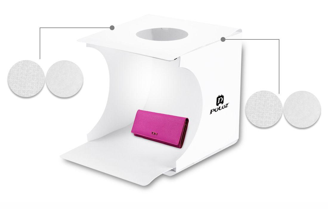 새로운 20 * 20 * 20CM 미니 사진 스튜디오 상자 휴대용 사진 배경 내장 라이트 포토 박스 작은 항목의 사진 배경 상자