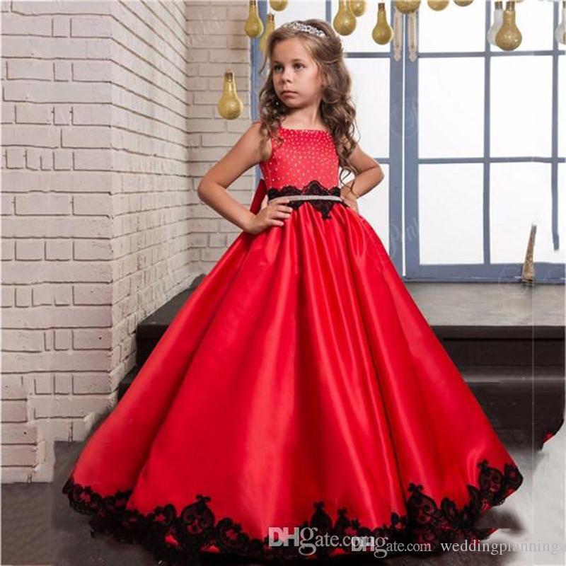 2093ce23b Tutu Ball Gown Red Flower Girl Dresses Custom Made 2017 Elegant ...