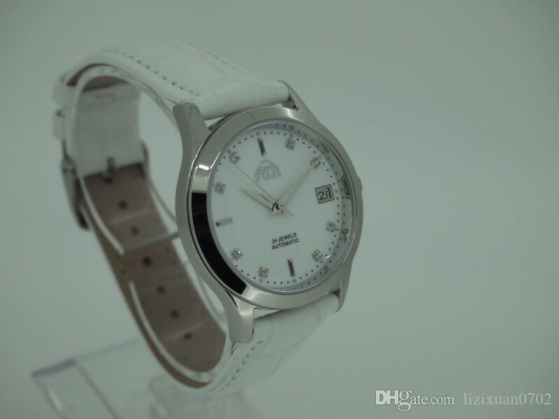 FUJI Fuji brand large thin dial automatic leather ladies watch leisure lovers watch Watch