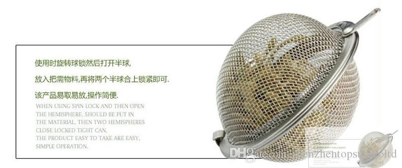 Beste prijs 100 stks / partij roestvrijstalen theepot infuser bol mesh zeef bal 5 cm