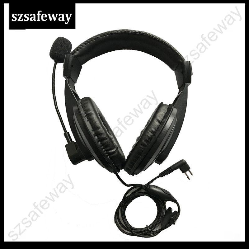 Fone de ouvido de rádio em dois sentidos com vox PPT empurre para falar e Swivel Boom Mic para walkie talkie Motorola CP040, CP200, GP300, GP88 etc