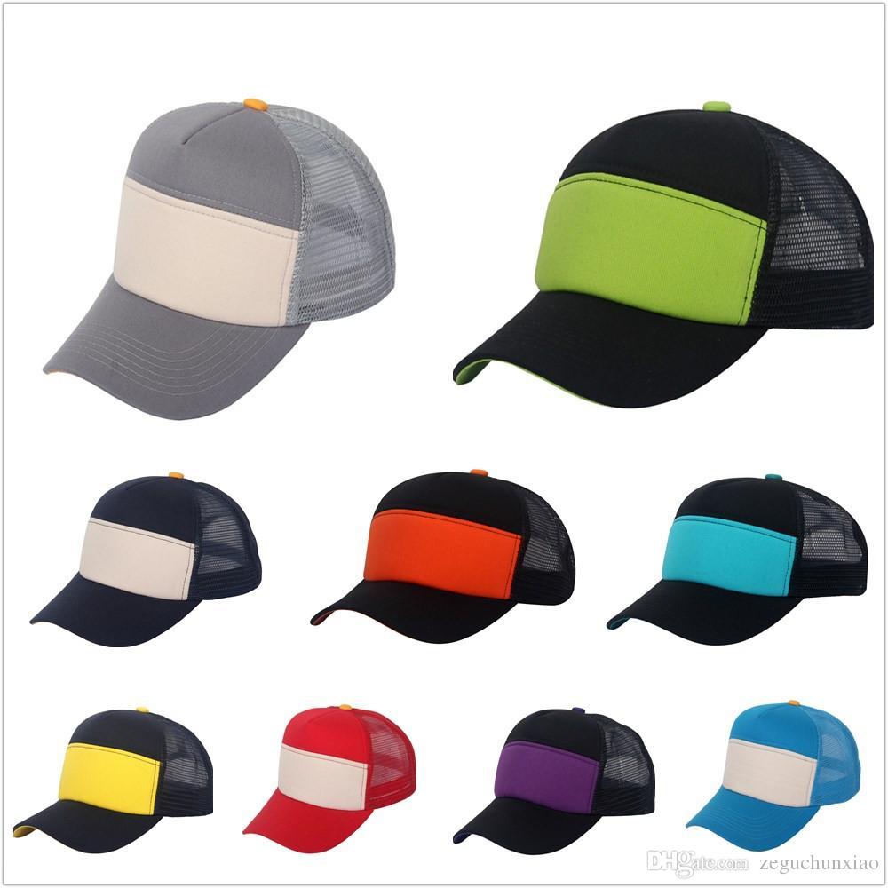 e20c6d99eb8 High Quality Trucker Mesh Hats Caps Comfortable Plain Caps Cotton Baseball  Hats Adult Kids Snapbacks Hot Fashion Trucker Hats Hats Caps Trucker Hats  Caps ...
