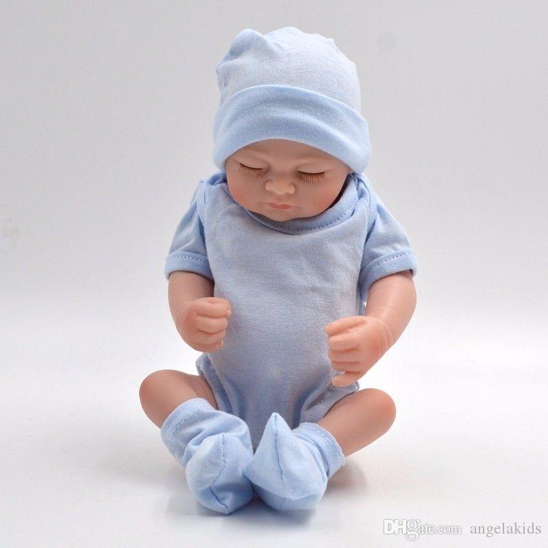 Todo el cuerpo de silicona muñecas Reborn Baby Muñecas Reborn Baby hecho a mano Reborn 11 pulgadas Real Look Newborn Baby Girl Silicone Realistic Doll
