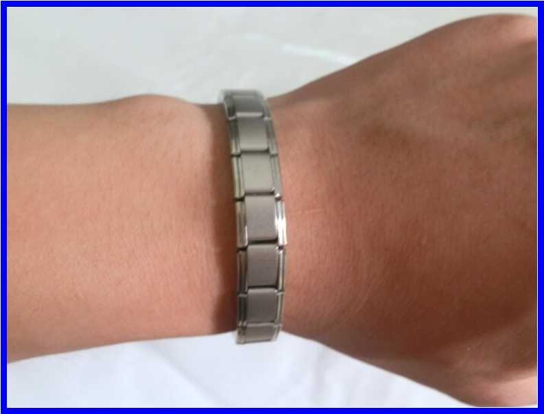 Sıcak satış Yeni varış Enerji bilezik Titanyum, Nano Enerji Manyetik Germanyum Titanyum Bilezik Ağrı kesici Güçlü!