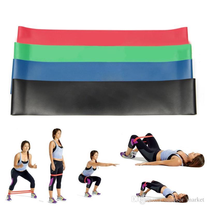 4 tamanho / conjunto de látex natural elastic elástico resistência bandas gym força perna treino de fitness equipamentos de fitness exercício cinto de loop