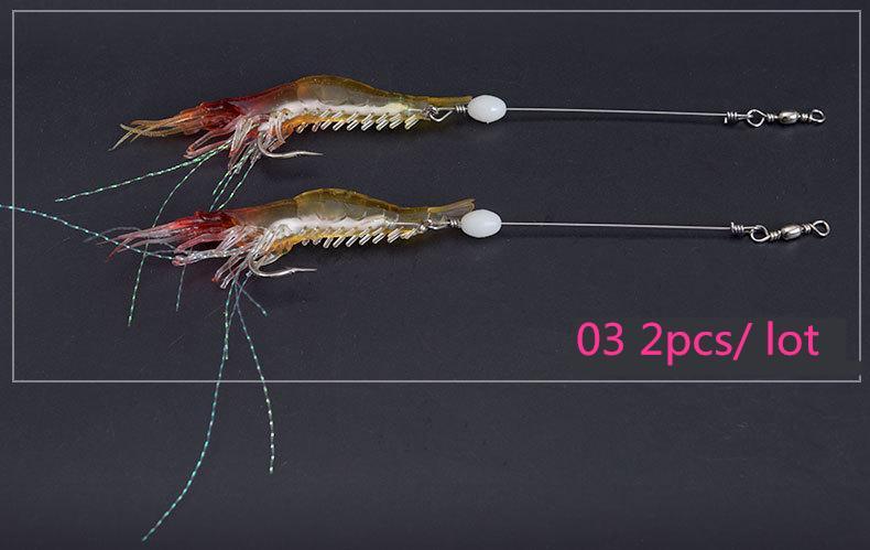 All'ingrosso nuovo arrivo 18 cm pesca esche gancio morbido bionimetico bionico gamberetto noctilucent durevole tackle da pesca pesca esca i