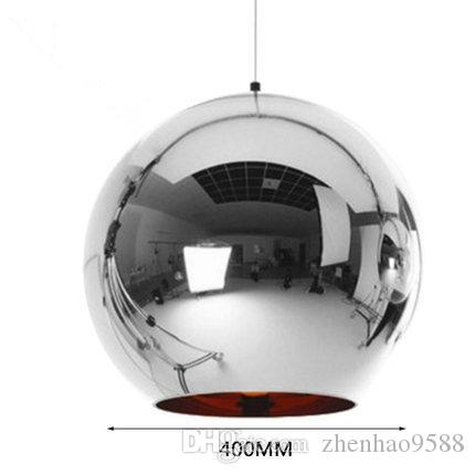 Modern Glass Globe Ball Pendant Lights Silver Shade Pendant Lighting - Silver kitchen light fixtures