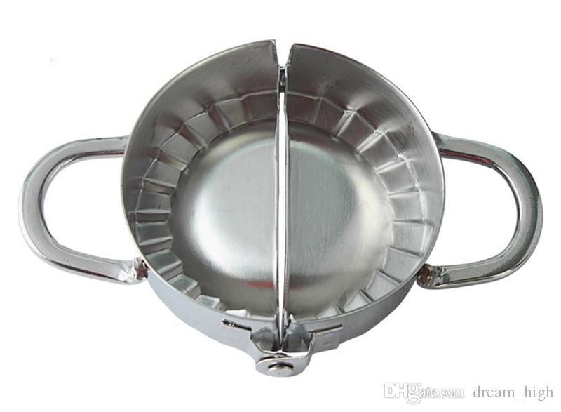Nouveaux outils de pâtisserie respectueux de l'environnement Outils en acier inoxydable Machine à fabriquer les boulettes de mastic Wraper Coupe-Pâte Tarte Ravioli Boulette Moule Cuisine Accessoires