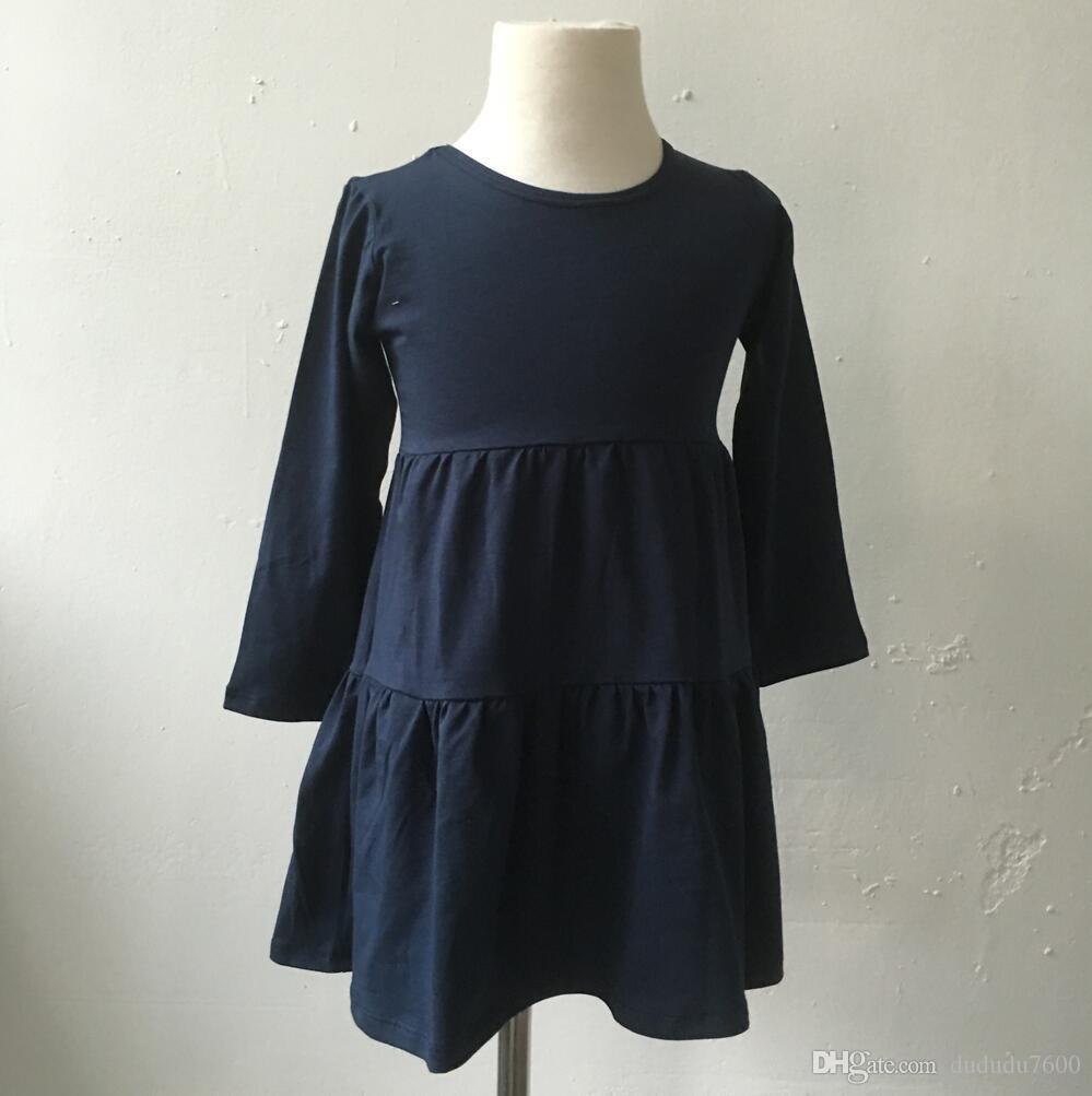 19c9b0903eab Winter New Fashion Children Kids Girls Party Dress Baby Cotton ...