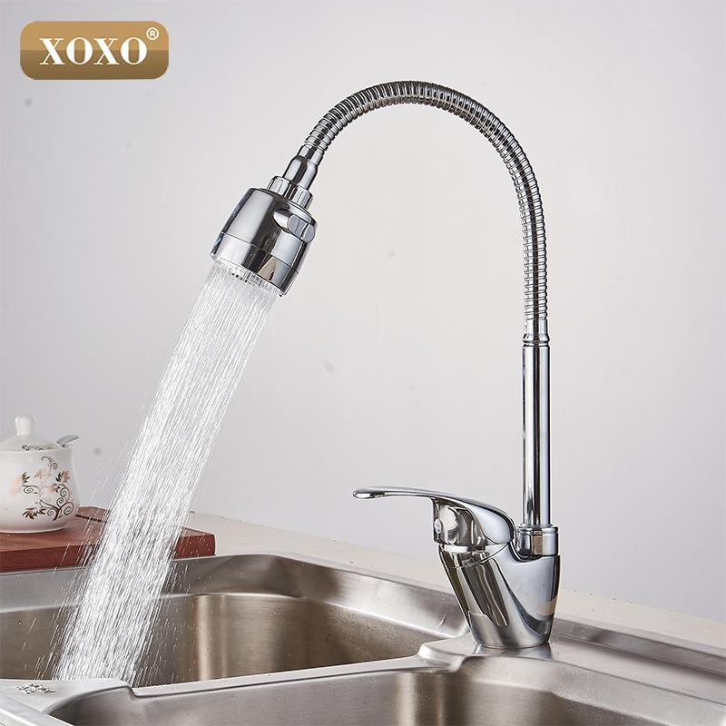 Wholesale Xoxo Brass Mixer Tap Cold And Hot Water Kitchen - Hot water for kitchen sink