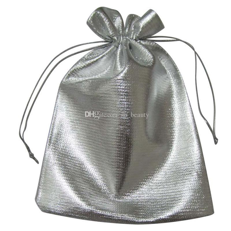 الذهب / الفضة القماش التعبئة أكياس الحقائب والمجوهرات عرس الحسنات حقيبة هدايا عيد الميلاد حزب 7x9cm / 9x12cm