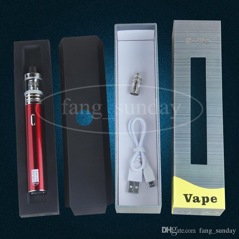 Original TVR 30S Batería Vape Pen Mod 2200mAh eGo USB Pass Through 30w .3 Sub Ohm Vaporizador Tanque 2ml Capacidad eCigs China Direct