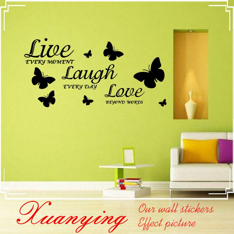 Live Laugh Love Quote Vinyl Decal Art Wall Stickers Home Room Decor ...