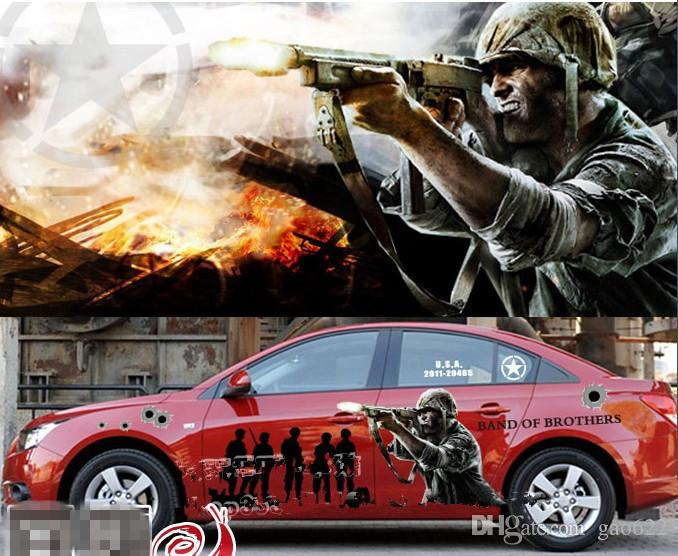 New Hot Anime Car Stickers Anime Stickers Band Of Brothers - Car anime stickers