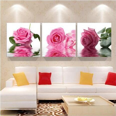 2018 Print Art Canvas Wall Decoration Pink Orchids Art Oil Printing ...