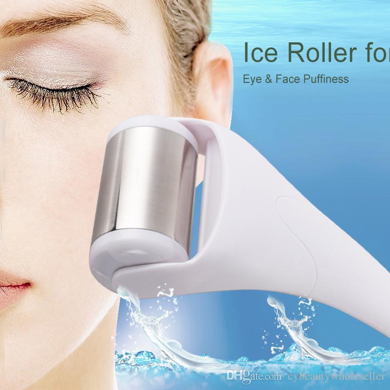 Портативный кожа прохладный лед ролик массажер для лица массаж тела Уход за кожей лица предотвращение морщин для домашнего использования