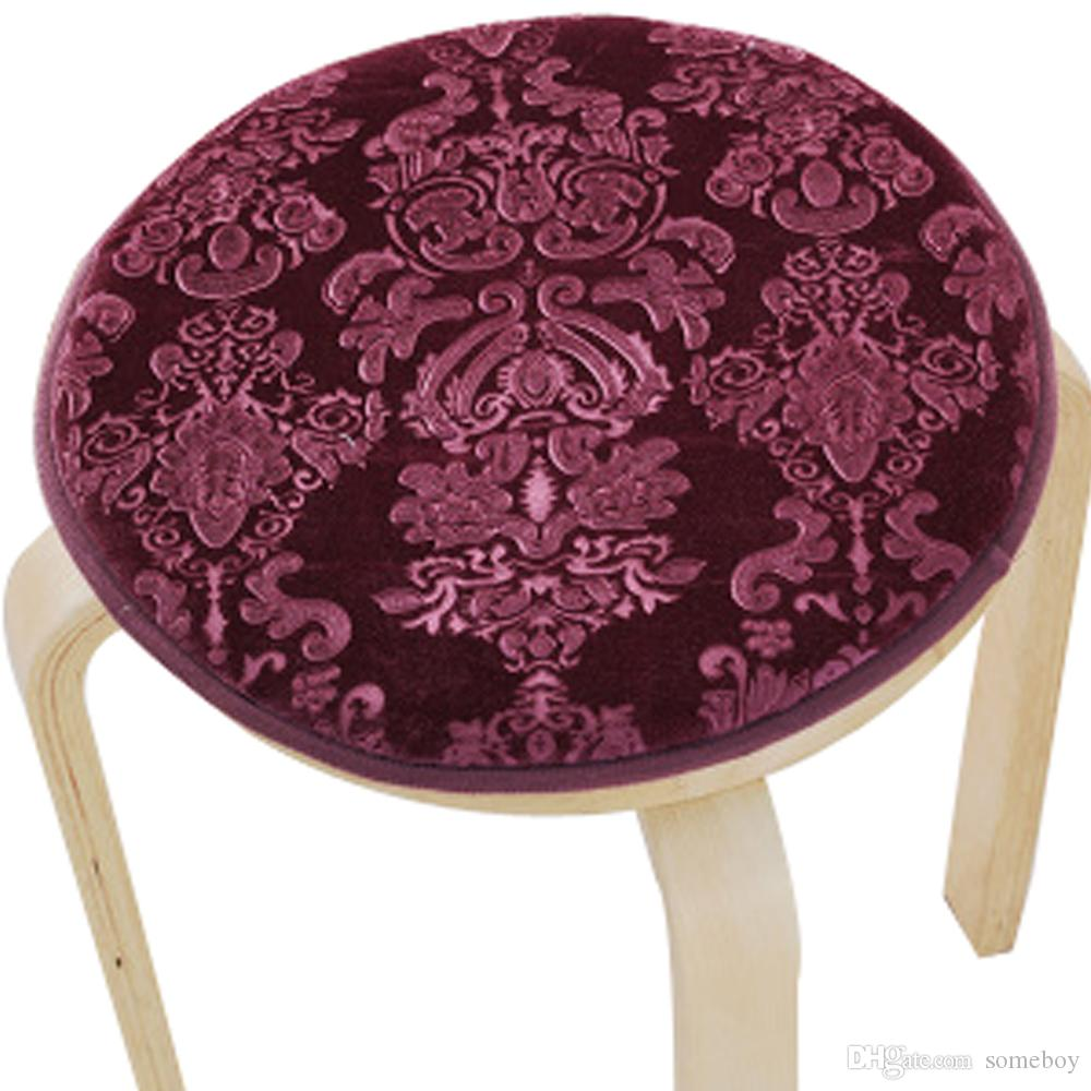 Upscale Velvet Art Round Seat Cushion Round Chair Cushion Baby Rounded Pad  Slip Chair Seat Student Thickened Round Pad Bar Stool Mat Lawn Chair  Cushions ...