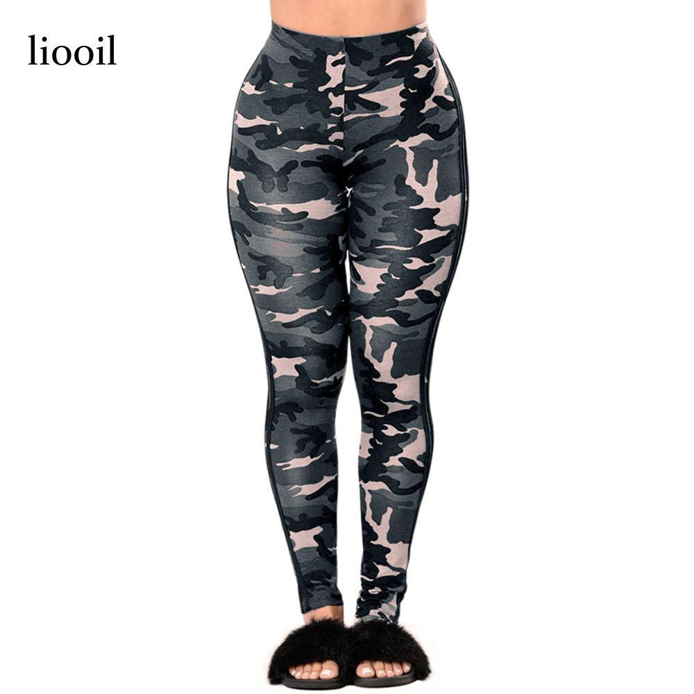 2017 Camouflage Print Workout Leggings Summer High Waist Stretch ...